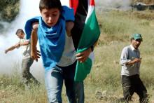 <p>Палестинци повријеђени на протесту</p>